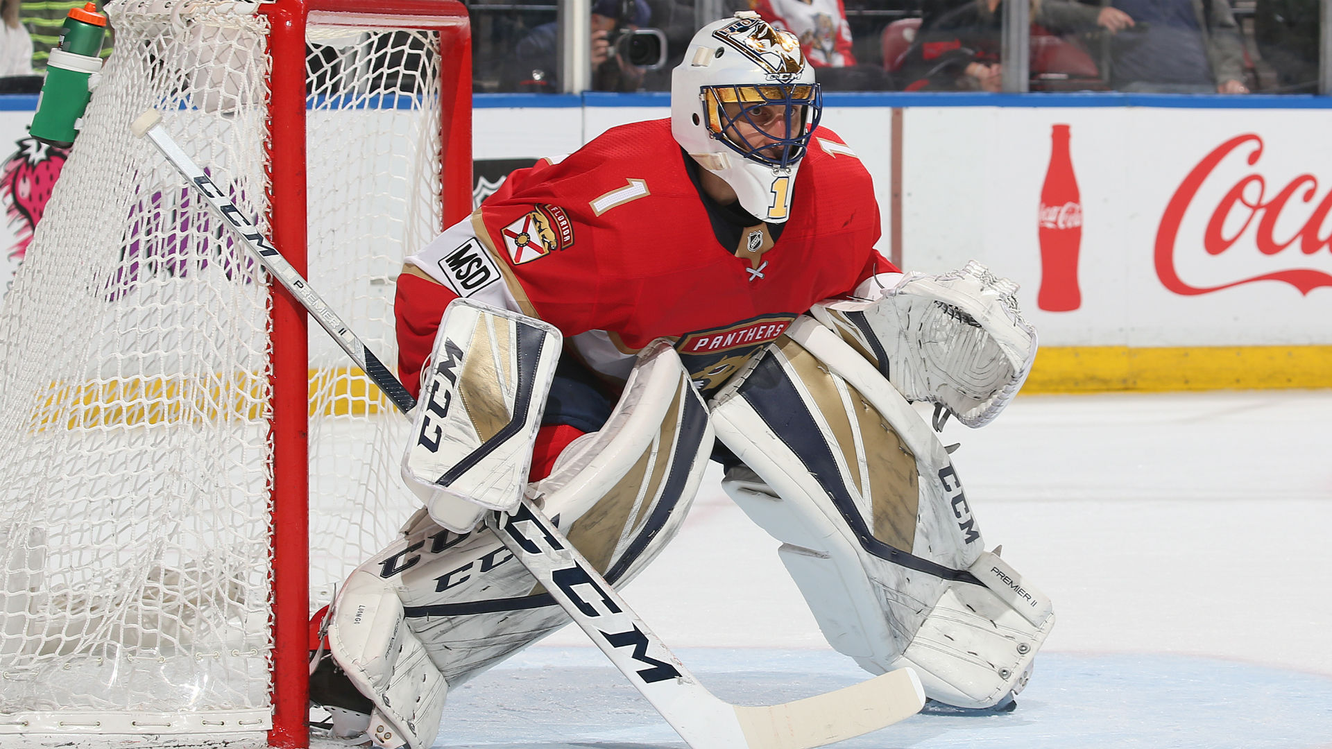 Roberto Luongo Leaves Panthers Game With Lower Body Injury