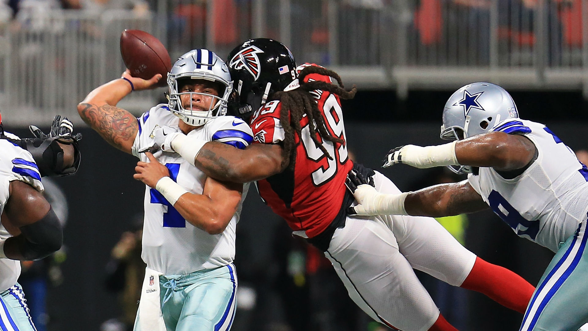 Cowboys learn they can survive without Ezekiel Elliott, but not without Tyron Smith