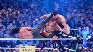 WWE レッスルマニア34 ザ・ミズ セス・ロリンズ フィン・ベイラー