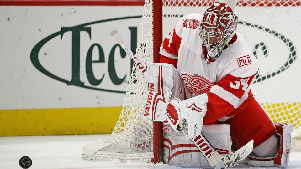 Red Wings' Mrazek blanks Devils for second consecutive shutout