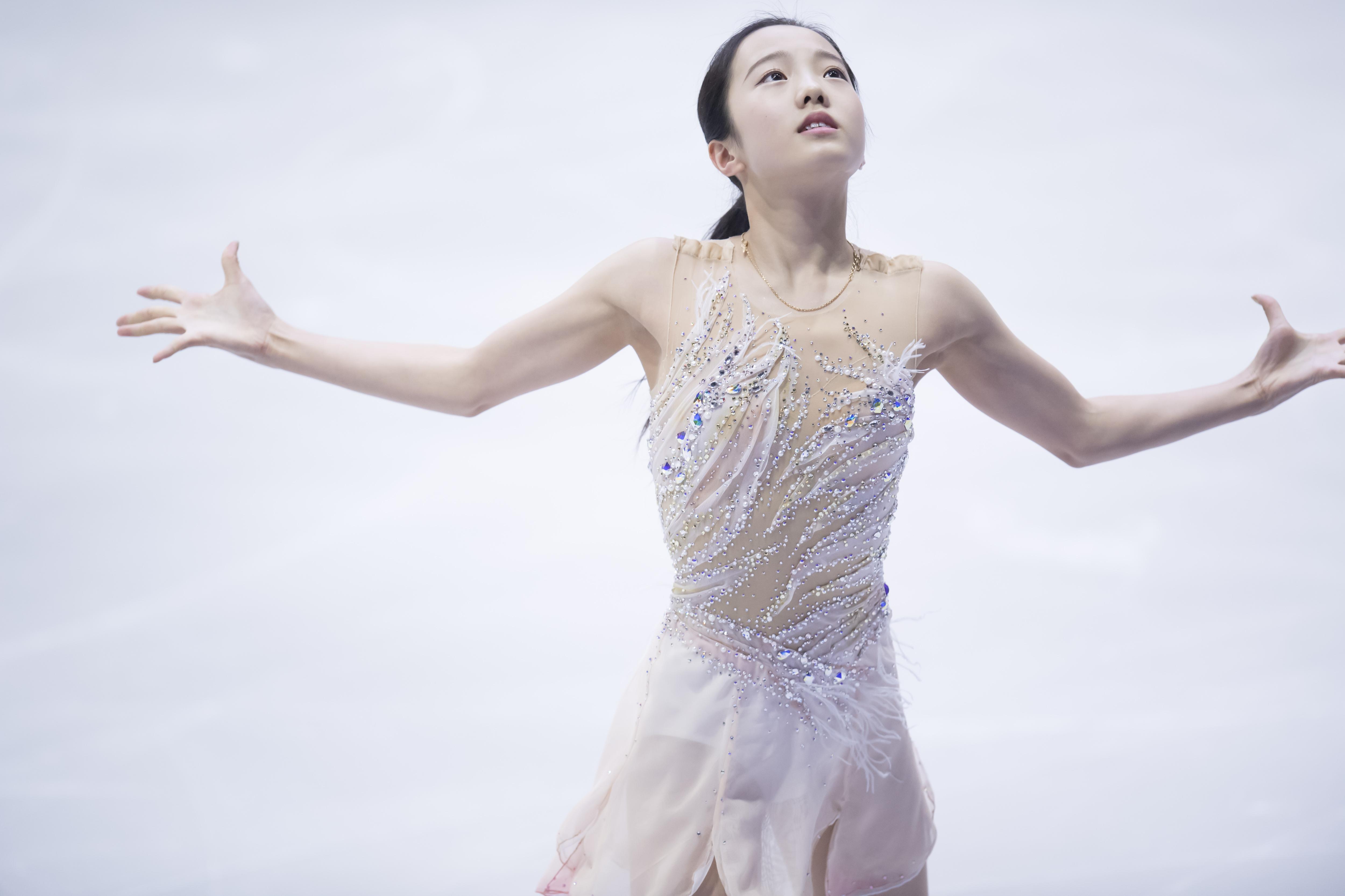 【フォトギャラリー】本田真凜、SP前の公開練習風景   Sporting News
