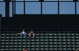 baseball empty stand