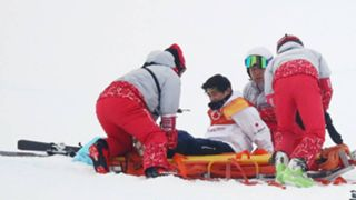 Japanese snowboarder stretchered away