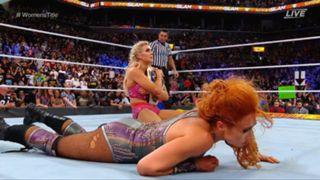 WWE サマースラム スマックダウン女子王座戦