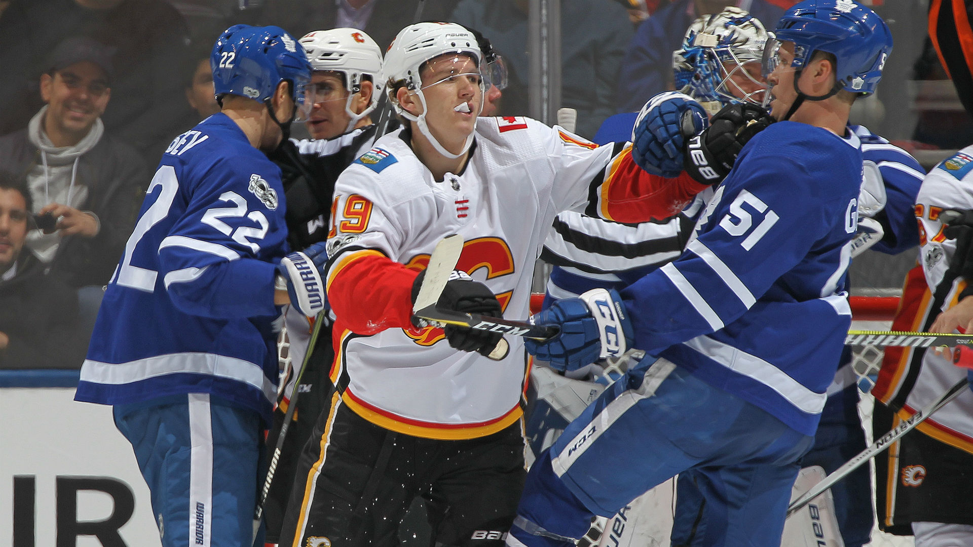 Maple Leafs react to Matthew Tkachuk spear: 'It's child's play'
