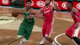 NBA 2K16 Christmas Bucks 76ers