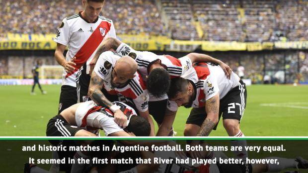 c9ad2a207fe Boca Juniors 1-2 River Plate  Juan Roman Riquelme curls in free-kick but  Boca lose Superclasico - video