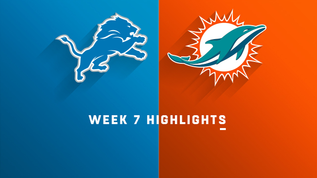 Lions vs. Dolphins highlights | Week 7